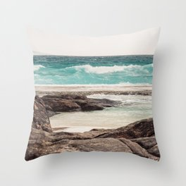 Watching the Waves Roll In Throw Pillow