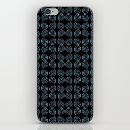 spiral 1-circle,mystical,ring,twist,disc,circular,abstract iPhone Skin