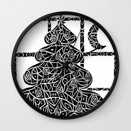 Christmas Tree Evening Wall Clock