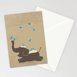 Chang Siam-- Happy Elephant Stationery Cards