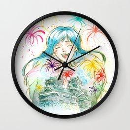Hanabi Wall Clock