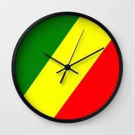 Flag of the Republic of the Congo Wall Clock