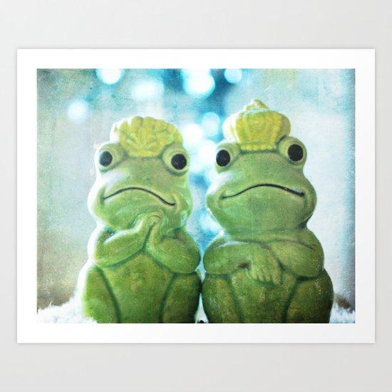 Mr and Mrs Frog Art Print