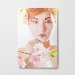 Geisha In Sunlight Metal Print