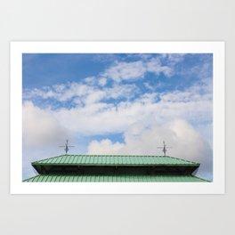 Looking Upward to the Summer Sky Art Print