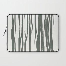 Black and White Abstract Art Print - Brush Stroke Painting - Minimalist Scandinavian Decor Laptop Sleeve