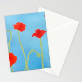 Poppies wide Stationery Cards