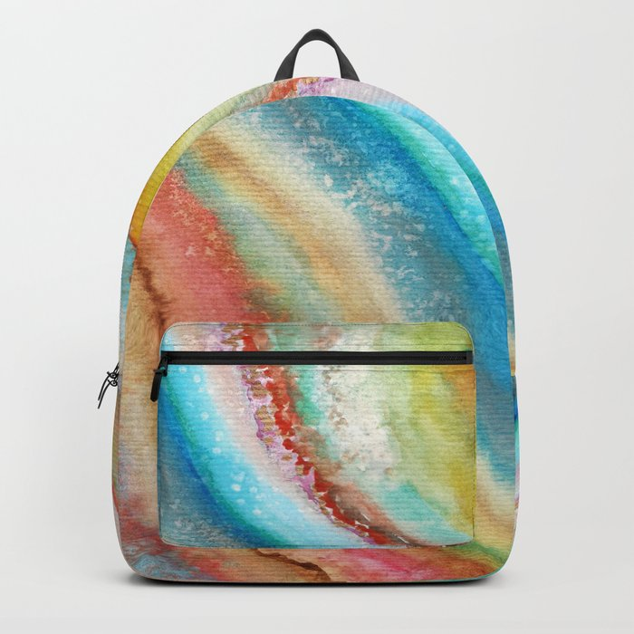 AGATE Inspired Watercolor Abstract 01 Backpack