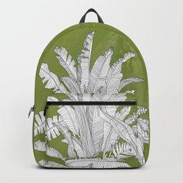 Banana Leaves Illustration - Green Backpack