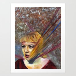 Olivia, Fine Art Oil Painting Portrait Print Art Print