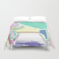 vermont Duvet Covers featuring Vermont Window by VirginiaEddie Designs