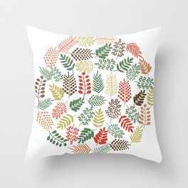 Colorful branches 1 Throw Pillow