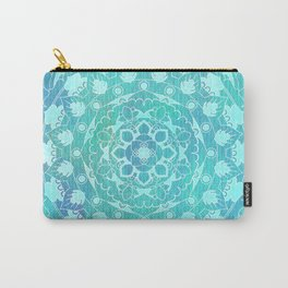 Refreshing Ocean Green Mandala Pattern Carry-All Pouch