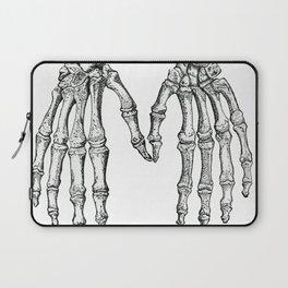 Vintage Anatomical Skeleton Hands Laptop Sleeve