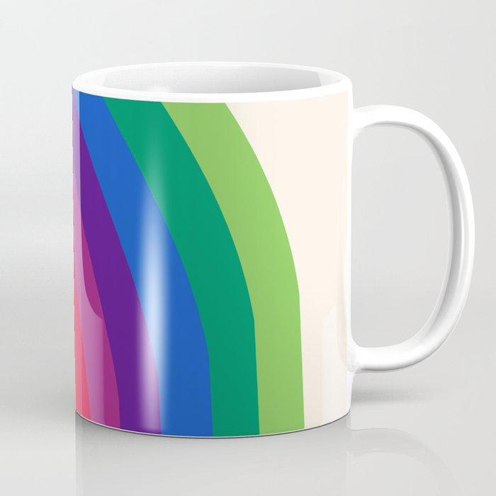 Groovy - rainbow 70s 1970s style retro throwback minimal happy hippie art decor Coffee Mug