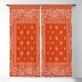 Bandana - Rust - Southwestern - Paisley  Blackout Curtain