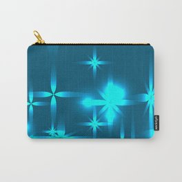 Northern shining background with blue stars. Carry-All Pouch