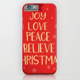 Conceptual christmas tree from words iPhone Case