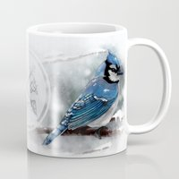 jay fleck Mugs featuring Blue Jay by Ben Geiger