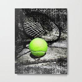tennis print work vs 1 Metal Print