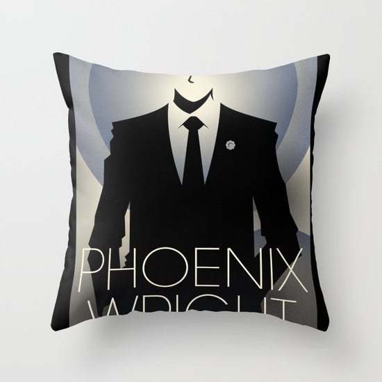 Phoenix Wright - 10th Anniversary Print Throw Pillow