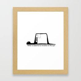 The Little Prince. Boa, elephant or hat. Framed Art Print