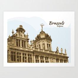 Brussels Grand Place Belgium Art Print
