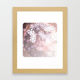 Snowflakes winter dance Framed Art Print