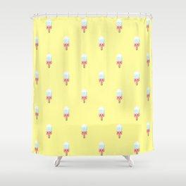 Kawaii melting popsicle pattern Shower Curtain