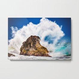 Ocean Wave Crash Metal Print