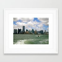 miami Framed Art Prints featuring Miami  by JP Smadbeck