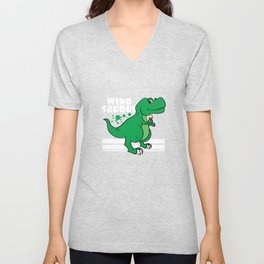 """Love wine and dinosaur at the same time? No need to choose! Grab this """"Winosaur"""" tee now! Unisex V-Neck"""