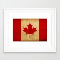 canada Framed Art Prints featuring Canada by NicoWriter