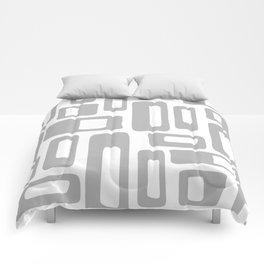 Retro Mid Century Modern Abstract Pattern 336 Gray Comforters