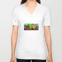 blues V-neck T-shirts featuring Blues. by Assiyam