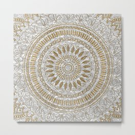 Elegant hand drawn tribal mandala design Metal Print