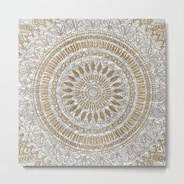 Elegant hand drawn tribal mandala design Metal Print
