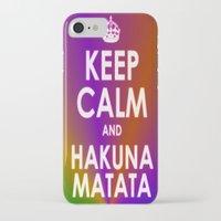 hakuna iPhone & iPod Cases featuring hakuna matata by  Alexia Miles photography