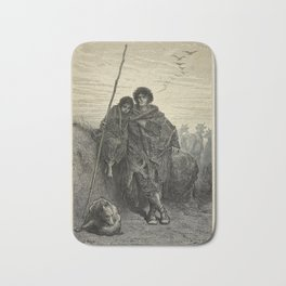 Gustave Doré - Illustration of a Basque Shepherd (1874) Bath Mat