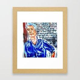 Anthony  Bourdain tribute Framed Art Print