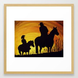 Evening Ride Framed Art Print