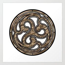 Bronze Medallion Art Print