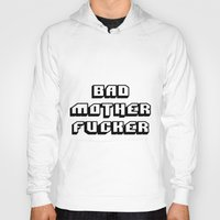 wallet Hoodies featuring Pulp fiction Bad mother fucker by Komrod