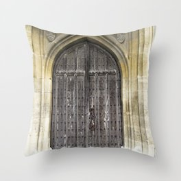 The Church Door Throw Pillow