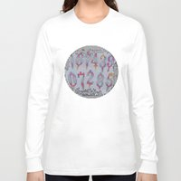 numbers Long Sleeve T-shirts featuring Numbers! white by gasponce