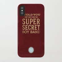 tony stark iPhone & iPod Cases featuring Tony Stark by Bonnie Detwiller
