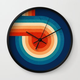 RETRO VIBES - 70's colorful stripes Wall Clock