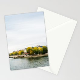 Seine river at Saint Louis island confluence in Paris Stationery Cards