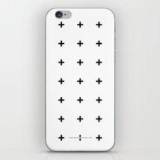 Black Plus on White /// www.pencilmeinstationery.com iPhone & iPod Skin