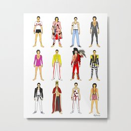 Outfits of Freddie Fashion Metal Print